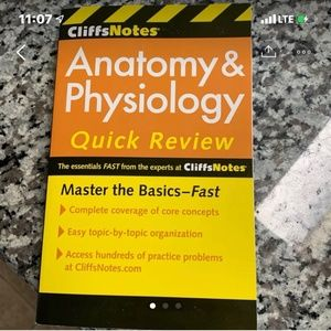 Other - Anatomy and Physiology Study CLIFF NOTES